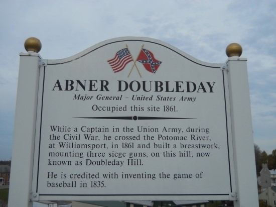 Abner Doubleday(Major General - United States Army) Occupied this site 1861. [특별기고] 스포츠와 페어플레이 그리고 투표 관련사진