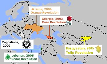 [세계속의 선거]  Color Revolution '색깔 혁명' 관련이미지3