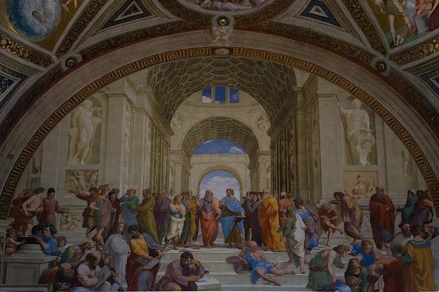 바티칸의 아리스토텔레스 그림